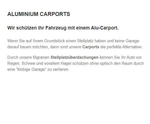 Carports & Stellplatzüberdachungen